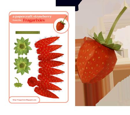 Papercraft Strawberry